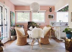 Pink, Patterned, Plant Perfection in a Designer's Eclectic 1940s Bungalow — House Call