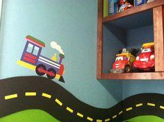 Wallies Peel and Stick Wall Art, OK Trains,