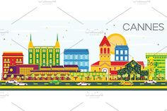 #Cannes #Skyline with #Color #Buildings by Igor Sorokin on @creativemarket