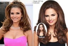 """Maria Menounos 2013 Oscars hair - Get-the-look with the 22"""" Fall Extension by @Daisy Fuentes @WOWLUXHAIR"""