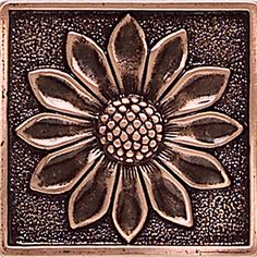 Check out this Daltile product: Massalia Copper 2 x 2 Floral Accent* Aluminum Foil Crafts, Metal Crafts, Pewter Art, Pewter Metal, Tin Foil Art, Cardboard Sculpture, Metal Embossing, Copper Art, Metal Hangers