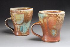 Mugs by Emily Murphy--soda-fired stoneware
