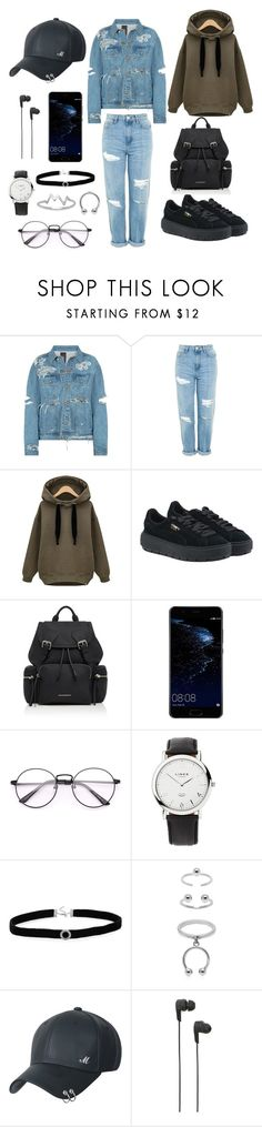 """Untitled #30"" by izabella-todor on Polyvore featuring Topshop, Puma, Burberry, Huawei, Links of London, BillyTheTree, Maria Francesca Pepe, B&O Play and La Preciosa"