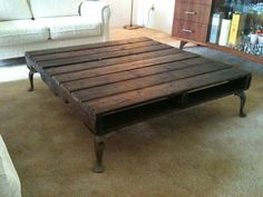pallet coffee table, espresso stain