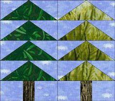 Tall Trees Paper Pieced Block: via FavQuilts