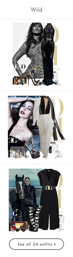 """""""Wild"""" by eleonoragocevska ❤ liked on Polyvore featuring Sergio Rossi, Tom Ford, Bobbi Brown Cosmetics, Giuseppe Zanotti, Yves Saint Laurent, Christian Louboutin, Chanel, Luca Carati, women's clothing and women's fashion"""