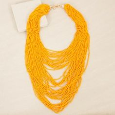 Layered Multi Strand Seed Bead Necklace