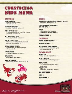 New Kids Menus debut in Downtown Disney