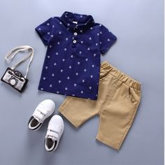 Bibicola Baby Boys Summer Clothing Set Short-sleeved T Shirt+shorts 2 Pieces Clothing Set Casual Cotton New Style  Boys Clothes