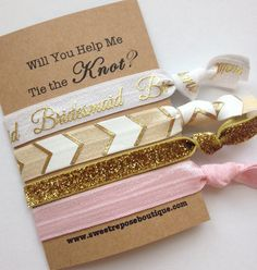 Will you be my Bridesmaid Hair Ties - Sweet Repose