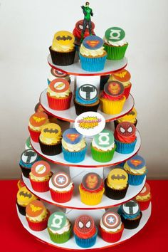 Heroes cupcakes
