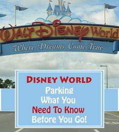 Disney Worlds parking fees have changed recently at the resorts however, you can still enjoy free parking at the Disney World parks. Find out all about Disney World parking lots, fees, and where to park!   |Disney World planning| Parking at Disney World| Disney saving| Disney World parking lot| Disney World Parking fees| Parking at Disney World tips Orlando Theme Parks, Disney World Theme Parks, Disney World Planning, Disney World Vacation, Disney Cruise Line, Disney Vacations, Walt Disney World, Disney Worlds, Disney Travel