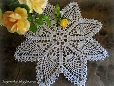 Easy Crochet Doily for Beginners   The pattern is very easy, and the doily is quick tomake. It took me ...