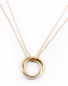 Ija Three Ring Necklace - Necklaces - Jewelry