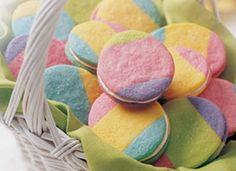 Rainbow Cookies - Easter