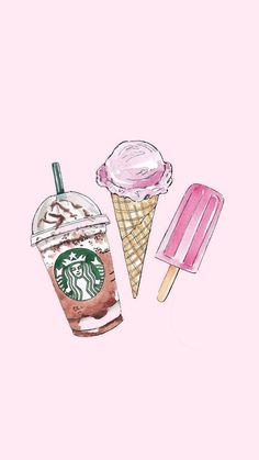 iphone wallpaper girly iPhone and Android Wallpapers: Starbucks and Ice Cream iPhone Wallpaper Cute Food Wallpaper, Cute Wallpaper For Phone, Summer Wallpaper, Emoji Wallpaper, Iphone Background Wallpaper, Kawaii Wallpaper, Aesthetic Iphone Wallpaper, Ice Cream Wallpaper Iphone, Wallpaper For Girls