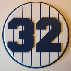 Retired Number 32 Plaque Yankees Elston Howard - large
