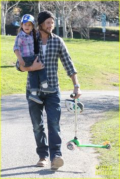 Halle Berry's little girl with her Dad Gabriel Aubry and their green Mini Micro... You can get one here: AU: http://www.microscooters.com.au/scooters/preschoolers-scooters/minimicro-mini-micro NZ: http://www.microscooters.co.nz/scooters/preschoolers-scooters/minimicro-mini-micro