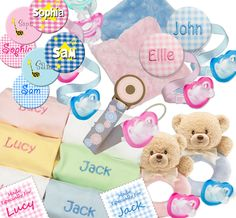 Lots of Adorable Valentine Gift Ideas ~ Personalize just for your baby!