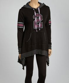 Look at this #zulilyfind! Black '2' Hooded Sidetail Pullover by Jack & Jinger #zulilyfinds