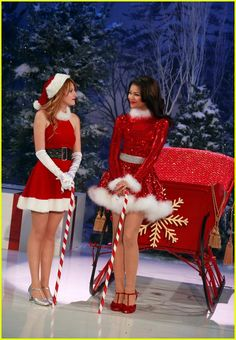 Bella and Zendaya with there Christmas Spirit