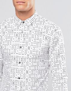 BOSS | Hugo By Hugo Boss Smart Shirt Slim Fit Ace Print at ASOS