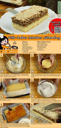 Hungarian Desserts, Cake Recipes, Dessert Recipes, Diy Food, Cake Cookies, No Bake Cake, Healthy Snacks, Breakfast Recipes, Bakery