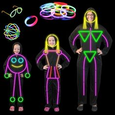 glow stick people costumes......who needs a flashlight, not me