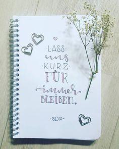 Letter Lovers mrs.b.letters: Handlettering Zitat SDP: Lass uns kurz für immer blieben