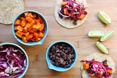 Black bean & sweet potato tacos- Joy the Baker