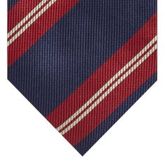 St George by Duffer Navy textured diagonal striped tie- at Debenhams.com