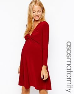7bd96b3f9 ASOS Maternity Exclusive Swing Dress With Twist Front €49.76 Moda Premama