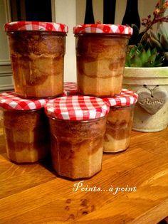 Cake en bocal (à adapter en ajoutant une couche de compote de pommes)