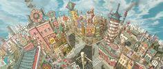 Mais um pouco dos incríveis cenários de TekkonKinkreet | THECAB - The Concept Art Blog