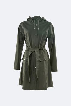 Rains' Curve Jacket is a classic yet practical women's rain jacket inspired by the timeless Trench Coat. With a slightly a-shaped fit and tie belt at Long Jackets, Rain Jackets, Coats For Women, Jackets For Women, Cool Silhouettes, Fishtail Parka, Waterproof Rain Jacket, Rain Jacket Women, Fishtail