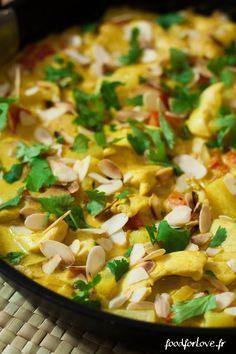 Curry de Poulet à l'Ananas et au Lait de Coco - Food for Love