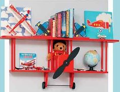 BiPlane Wall Shelf by Midwestclassiccrafts on Etsy, $98.00