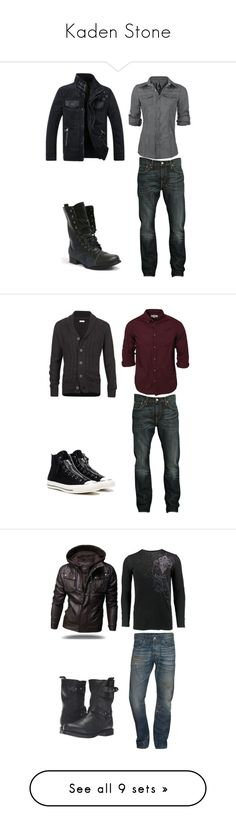 """""""Kaden Stone"""" by weewolf93 ❤ liked on Polyvore featuring Levi's, Converse, River Island, AG Adriano Goldschmied, Archaic, rag & bone, Topman, Calvin Klein, PRPS and Doublju"""