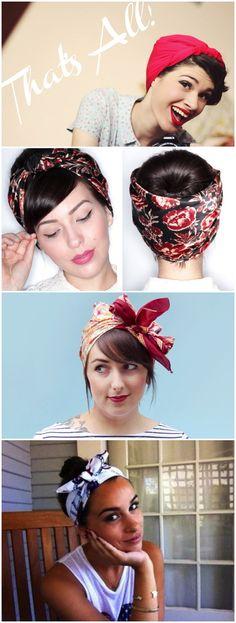 Este verano, ponte pañuelo en la cabeza/ This summer, wrap the headscarf up