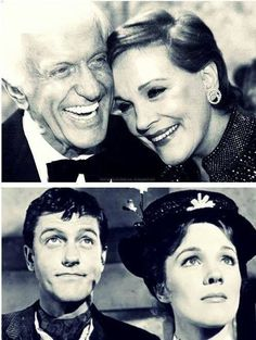 I absolutely love this | Julie Andrews and Dick Van Dike . From my favorite childhood movie . . Mary Poppins