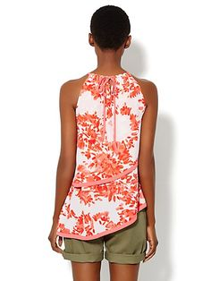 Floral Tiered Halter Top  - New York & Company