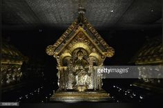 Photo taken on May 30, 2016 shows the St Maurus reliquary at the... #hlubokanadvltavou: Photo taken on May 30, 2016… #hlubokanadvltavou