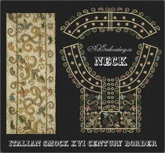 Neck_Italian blouse Border Embroidery Designs Set