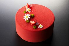 Strawberry Fraisier by chef Cyril Lignac from France.