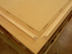A four-way miter joint hides the seams.