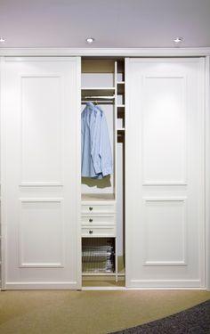 Sliding doors on closet area.