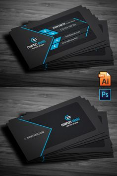 Business Cards Layout, Professional Business Card Design, Business Card Psd, Elegant Business Cards, Free Printable Business Cards, Id Card Design, Visiting Card Design, Corporate Identity, Identity Branding