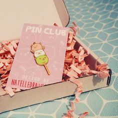 Received my monthly @_pinclub pin today. This super cute dango pin was designed by @natelledrawsstuff  #pinclub #pın #pingame