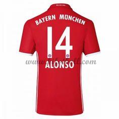 Billiga Fotbollströjor Bayern Munich 2016-17 Alonso 14 Kortärmad Hemmatröja