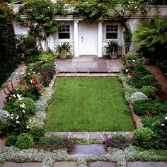 cottage garden perfect for a row house or other courtyard backyard